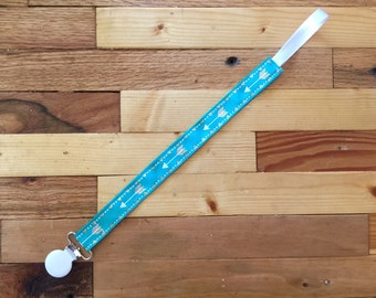 Teal Arrow Pacifier Clip