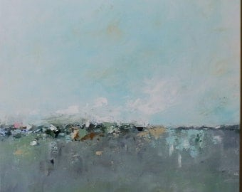 abstract seascape,Landscape,modean ,Acrylic abstract painting, blue abstract ,abstract art,  minimal,monotone