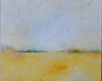 abstract landscape painting,original  abstract,modern,minimal, Abstract Painting,Acrylic Painting,yellow