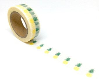 Pineapple washi tape w/Polka dots