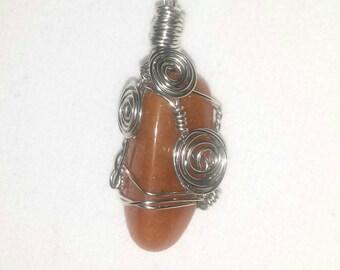 Carnelian Gemstone Pendant