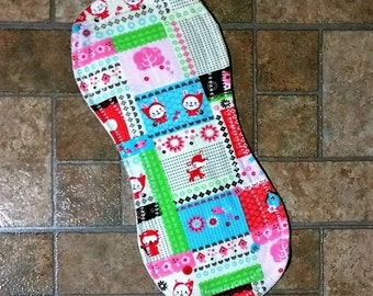 Red Riding Hood Burp Cloth - Flannel Print backed with Terry Cloth