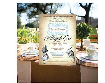 Alice in Wonderland Baby Shower (Tea Party, Garden Party, White Rabbit, Alice)
