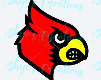 UofL Cardinal svg cutting file, Louisville cards
