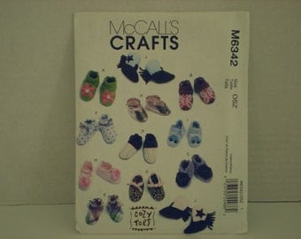 McCalls Baby Shoes Pattern