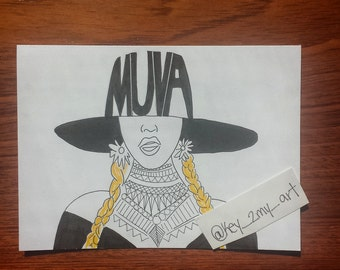 Muva Beyonce Birthday Card/ Mothers Day Card