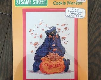Sesame Street Cookie Monster Cross Stitch Kit
