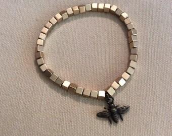 Golden Nugget Stretch Bracelet