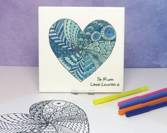 Design Your Own Heart Ceramic Tile