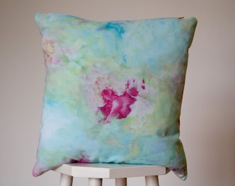 Hand dyed cushion // handmade pillow
