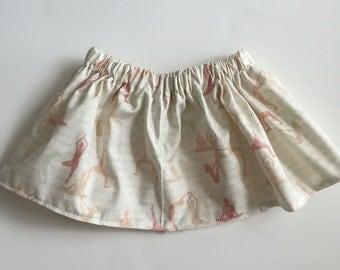 Baby girl/ toddler yoga poses skirt