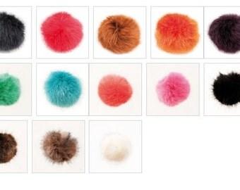 Faux fur Pompom, fake fur Pompom, Pompom 13 cm