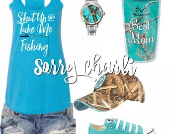 Shut Up And Take Me Fishing Tank Top