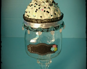 Zebra Fake Cupcake Jar