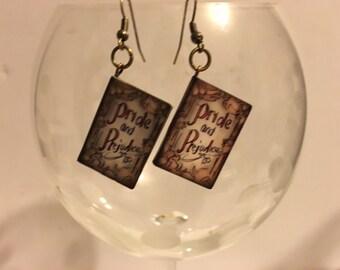 Jane Austen's Pride & Prejudice Mini Book Earrings