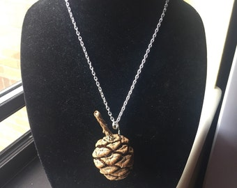Large (real) pinecone necklace