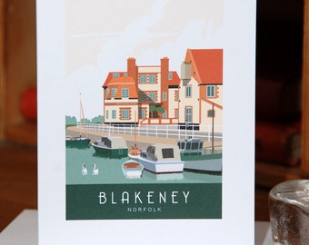 Greetings Card of Blakeney Quay, in the Autumn