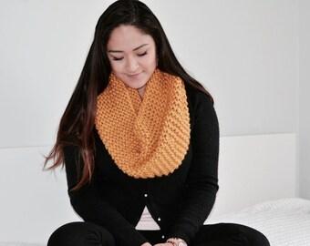 Chunky Knit Cowl Neckwarmer/Mustard