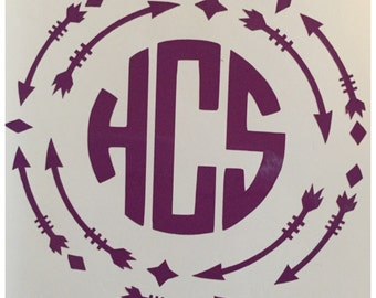 Vinyl Monogram Decals
