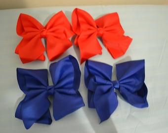 2 big baby girls hair bows, baby hair bows-