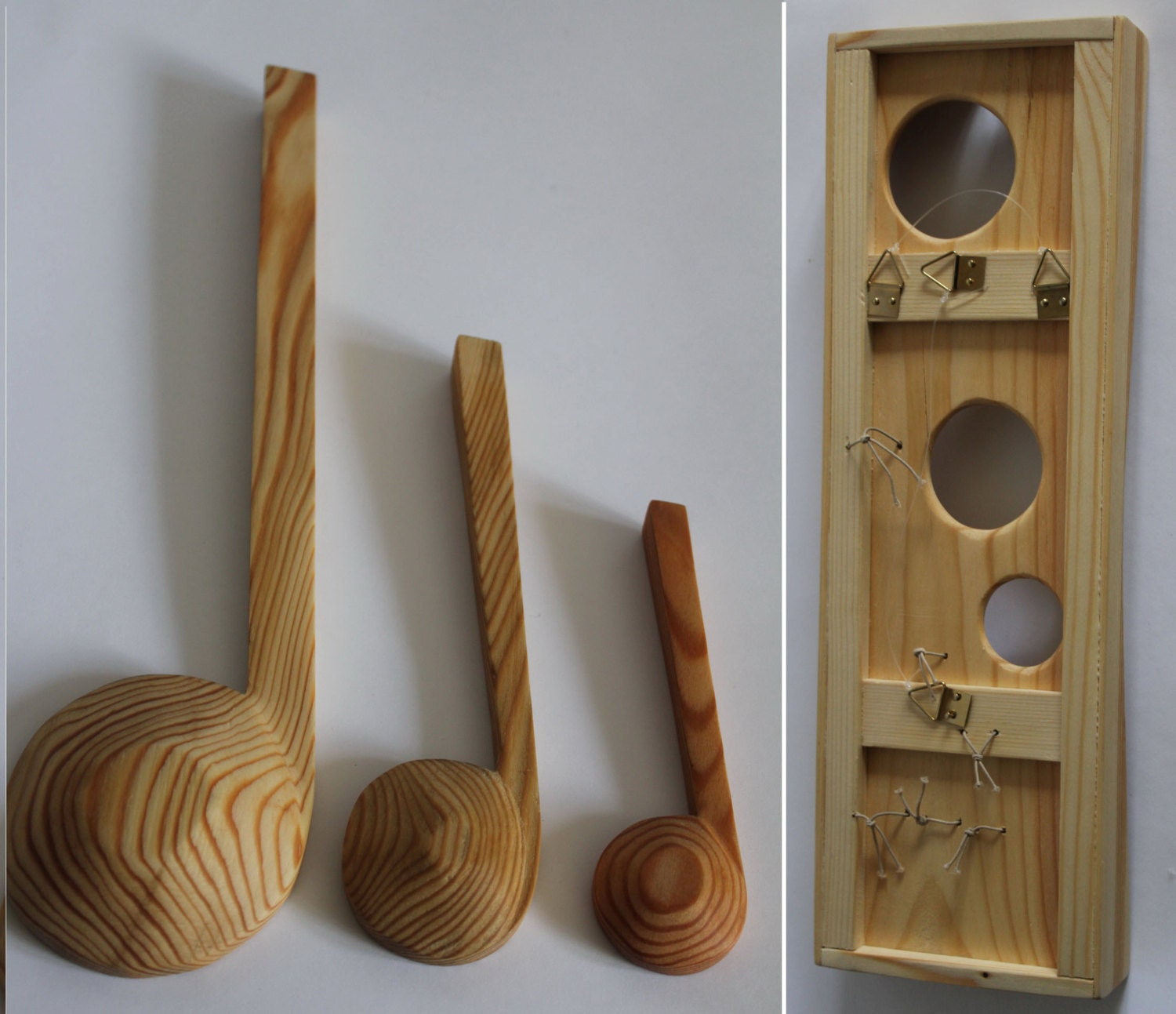 Wooden Utensil Wall Decor : Wall art wooden spoon box kitchen utensils by