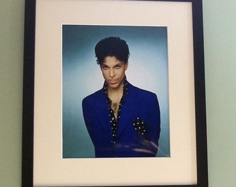 Prince framed 8' x 10' photo