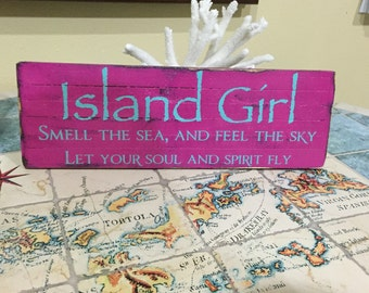 Island Girl Sign w/text