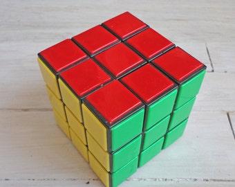 Soviet Vintage, Rubik's Cube Soviet 3D Puzzle, Travel Game, Logic Game, kubik rubika
