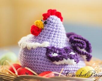 Crochet Chicken Stuffed Animal, Chicken Amigurumi, Chicken Decor