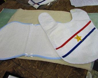 Baby Burp cloth and bib
