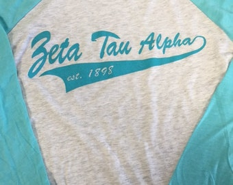 3/4 sleeve baseball shirt, tri-blend