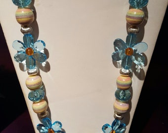 Fun and colorful glass bead necklace