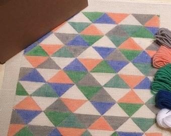 Triangles Needlepoint Tapestry Kit