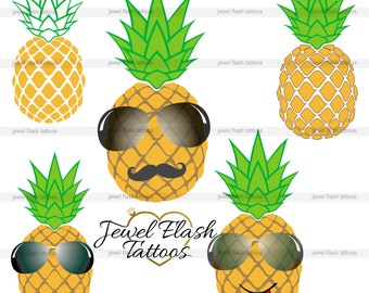 Pineapple Vector Image, Instant Download, Digital Clipart, Personal Commercial Use, Paper crafts, Card making Scrapbooking Print, Web design
