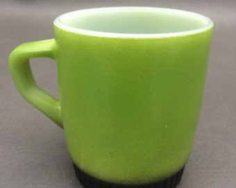 Vintage Avocado Green Fireking Mug