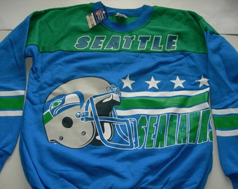 Vintage Seattle Seahawks  NFL football sweatshirt by Garan made in the USA New with tags  officially licensed product