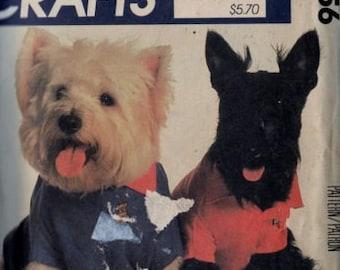 Dapper Dogwear Sweatshirt, T-Shirt, Tux, Raincoat McCall's 9356 Pattern (Uncut) (XS, S, M)