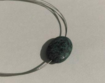 Blue Stone Wire Bracelet