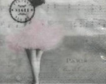 Decoupage Napkin - Ballerina