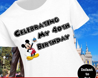 Disney Birthday Top, Disney Birthday Shirt, Disney Birthday Celebration Shirt