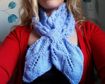 knitted ascot scarf
