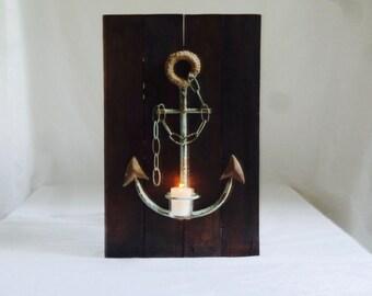 Anchor Decor, Home Decor, Wall Decor, Wall Candle Holders, Anchor Wall Decor, Decorative Anchors, Votive Candle Holders, Anchor Home Decor