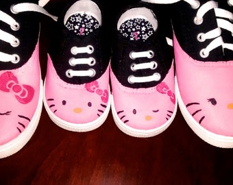 CHILDREN Hello Kitty hand painted shoes