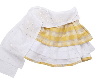 Cotton skirt and eyelet