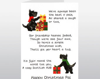 Scottish Christmas Card Pals WWXM52