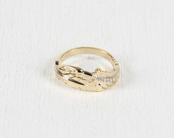 Feather Quill Ring - Gold