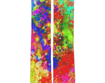Paint Splatter Socks