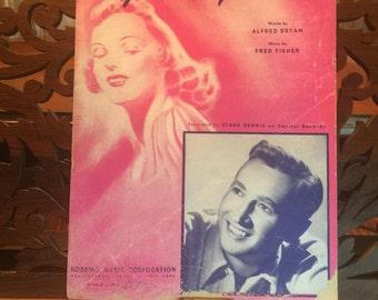 Vintage Sheet Music, Peg O' My Heart, 1947 edition, Pink