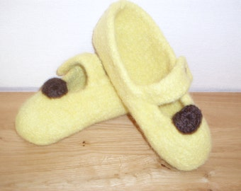 Knitted felt slippers Gr36-37 only 12Euro!