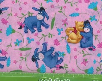 Eeyore,Pooh Hugging on pink, Springs